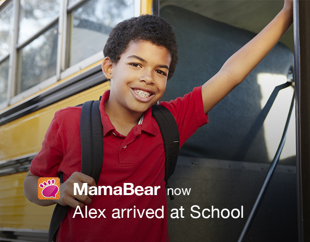 How to Receive Automatic Alerts with MamaBear When Kids Arrive/Leave School | MamaBear